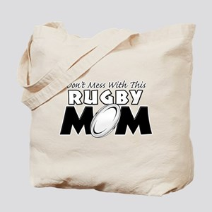 Dont Mess With This Rugby Mom copy Tote Bag