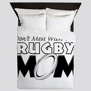 Dont Mess With This Rugby Mom copy Queen Duvet