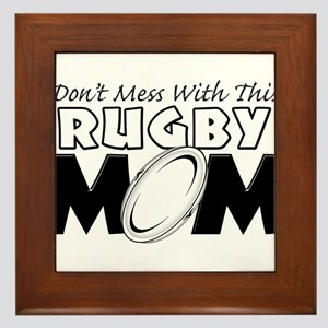 Dont Mess With This Rugby Mom copy Framed Tile
