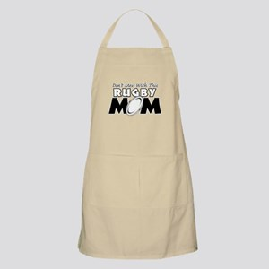 Dont Mess With This Rugby Mom copy Apron