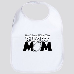 Dont Mess With This Rugby Mom copy Bib