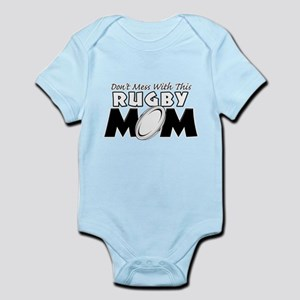 Dont Mess With This Rugby Mom copy Infant Body