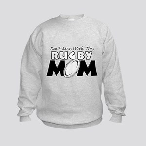Dont Mess With This Rugby Mom copy Kids Sweats