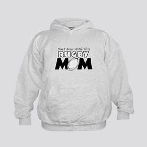 Dont Mess With This Rugby Mom copy Kids Hoodie