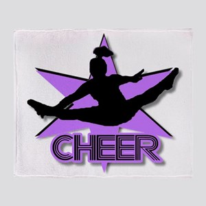 Cheerleader in purple Throw Blanket