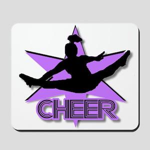 Cheerleader in purple Mousepad