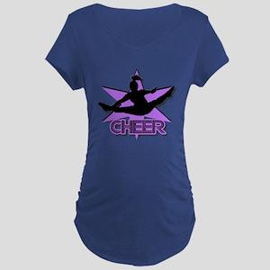Cheerleader In Purple Dark Maternity T-Shirt
