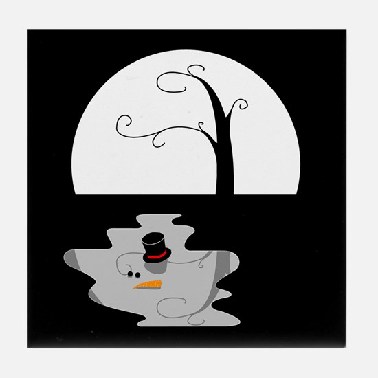 Snowman Puddle: Tile Coaster