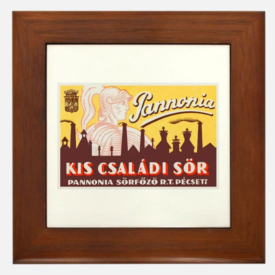 Hungary Beer Label 4 Framed Tile