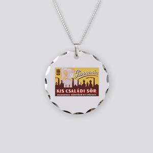 Hungary Beer Label 4 Necklace Circle Charm