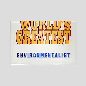 World's Greatest Environmentalist Rectangle Magnet