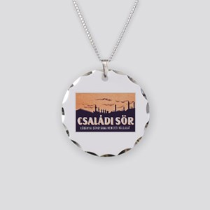 Hungary Beer Label 2 Necklace Circle Charm