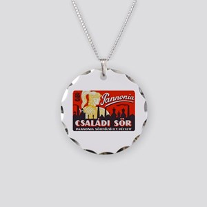 Hungary Beer Label 1 Necklace Circle Charm