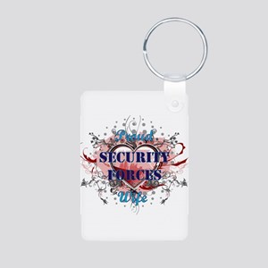 Security Forces Wife Aluminum Photo Keychain