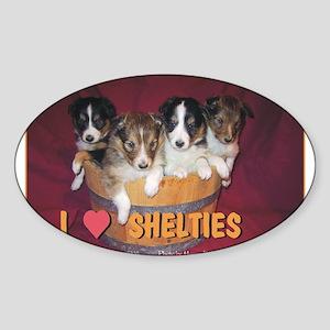 Sheltie puppies - Sticker (Oval)