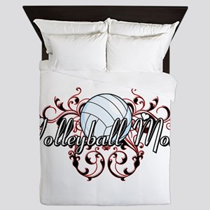 Volleyball Mom (tribal) Queen Duvet