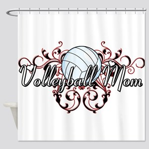 Volleyball Mom (tribal) Shower Curtain