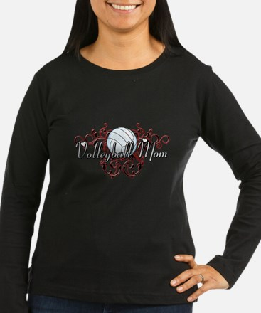 Volleyball Mom (tribal) T-Shirt