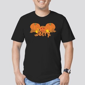 Halloween Pumpkin Jerry Men's Fitted T-Shirt (dark