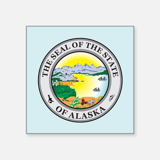 "Alaska Seal Square Sticker 3"" x 3"""