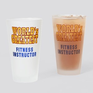 World's Greatest Fitness Instructor Drinking Glass