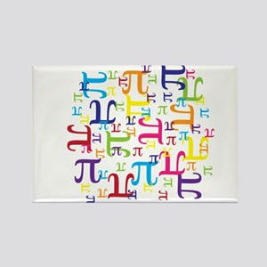 Pieces of Pi Rectangle Magnet