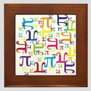 Pieces of Pi Framed Tile
