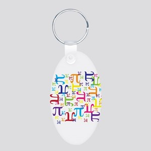 Pieces of Pi Aluminum Oval Keychain