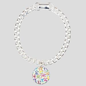 Pieces of Pi Charm Bracelet, One Charm