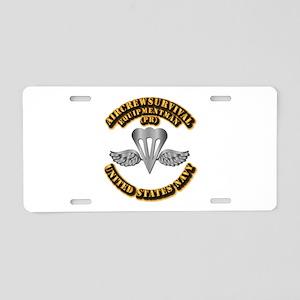 Navy - Rate - PR Aluminum License Plate