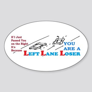 LEFTLANE LOSER Sticker (Oval)