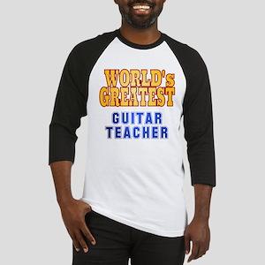 World's Greatest Guitar Teacher Baseball Jersey