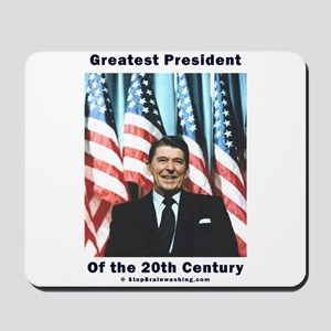 Ronald Reagan - Greatest w Flags Mousepad