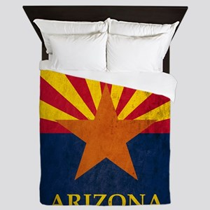 Grunge Arizona Flag Queen Duvet