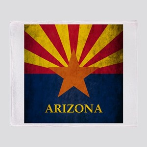 Grunge Arizona Flag Throw Blanket