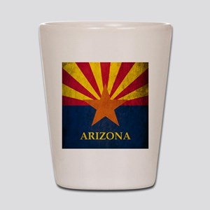 Grunge Arizona Flag Shot Glass