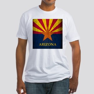 Grunge Arizona Flag Fitted T-Shirt