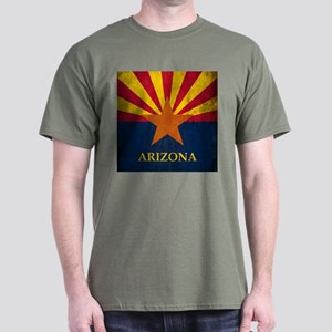 Grunge Arizona Flag Dark T-Shirt