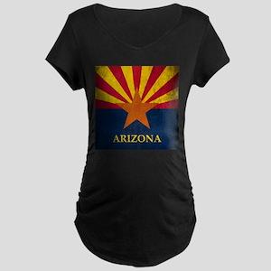 Grunge Arizona Flag Maternity Dark T-Shirt