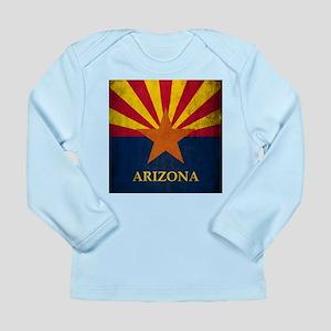 Grunge Arizona Flag Long Sleeve Infant T-Shirt