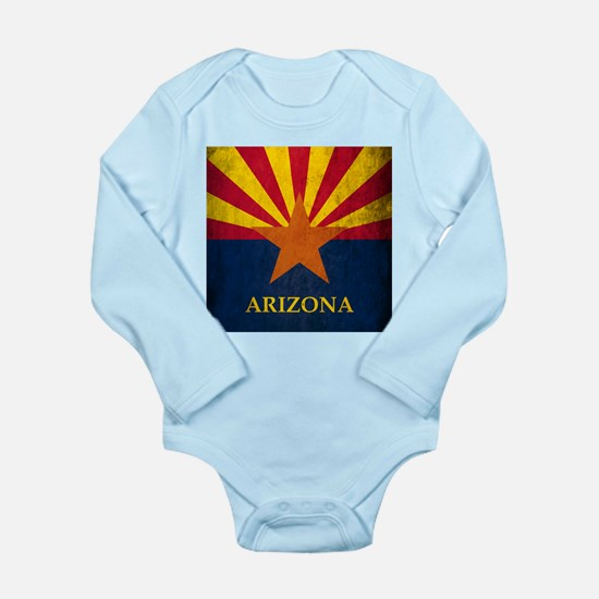 Grunge Arizona Flag Onesie Romper Suit