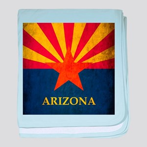 Grunge Arizona Flag baby blanket