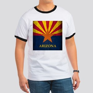 Grunge Arizona Flag Ringer T