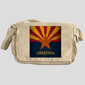 Grunge Arizona Flag Messenger Bag