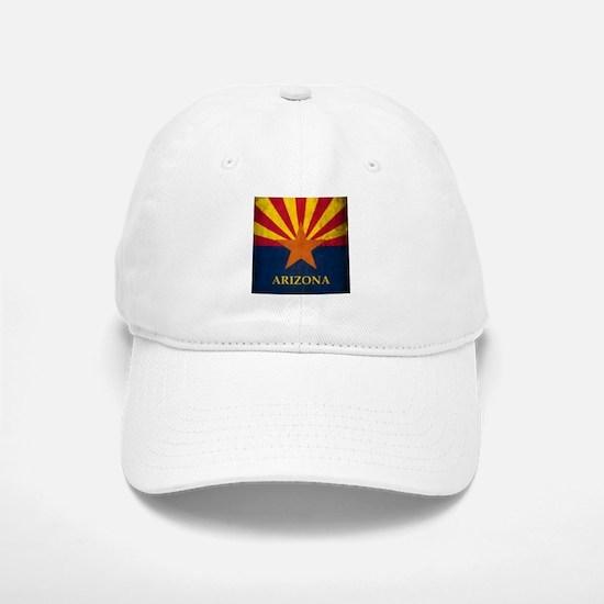 Grunge Arizona Flag Baseball Baseball Cap