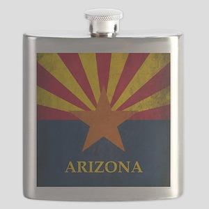 Grunge Arizona Flag Flask