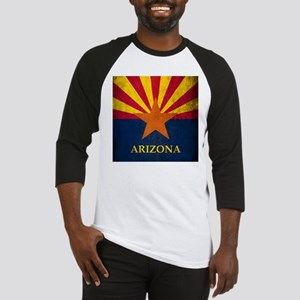 Grunge Arizona Flag Baseball Jersey