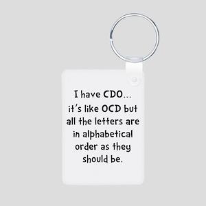 CDO Like OCD Aluminum Photo Keychain