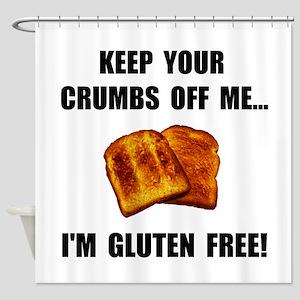 Crumbs Off Me Gluten Free Shower Curtain