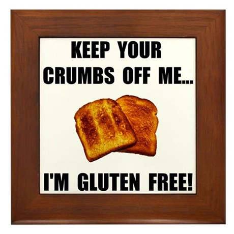 Crumbs Off Me Gluten Free Framed Tile